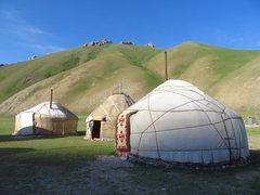 Kyrgyz yurt camp in Tash Rabat