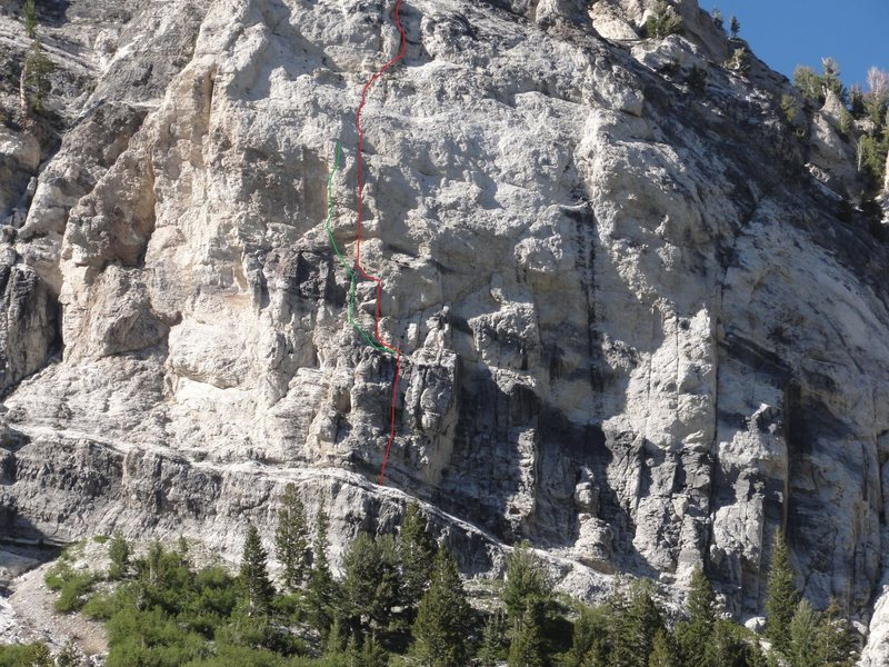 Dante in red, Devil Goat in green<br>