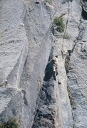 Rock Climbing Photo: Starting into the P5 'chimney' ...