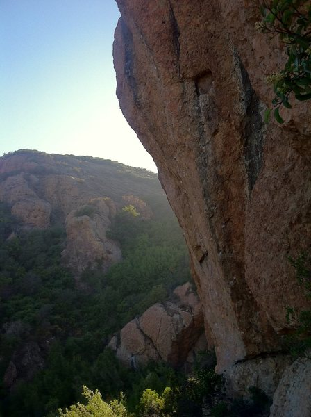 Rock Climbing Photo: The beautiful White Wall in the evening light.