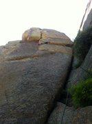 Rock Climbing Photo: Reverse belly crawl, hobbit style.