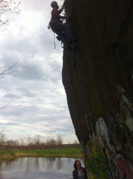 Rock Climbing Photo: Leading Sprax's Long Night.