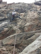 Rock Climbing Photo: Paul beginning the steep finish.