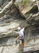 Rock Climbing Photo: Paul at the start of Earth First.