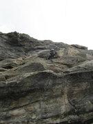 Rock Climbing Photo: Paul halfway up.