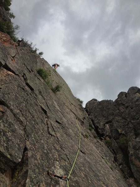 Looking up the third pitch.