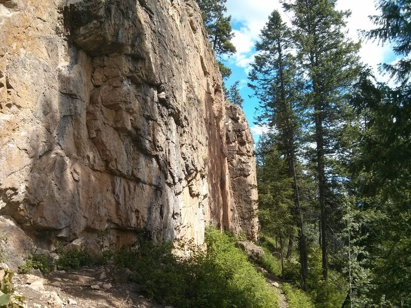 A random section of the wall and trail.