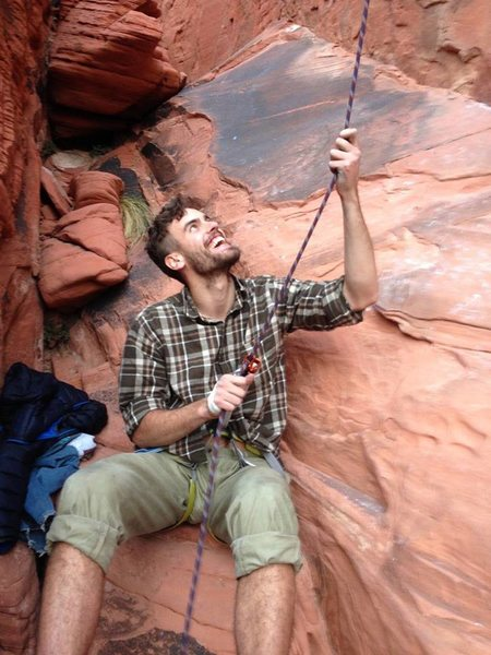 Belaying in Red Rocks