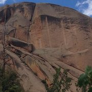 Rock Climbing Photo: The whole climb with a good shot of the upper edge...