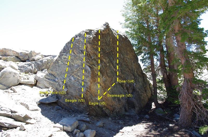 Rock Climbing Photo: Way Lake Boulder