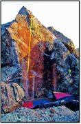 Rock Climbing Photo: Fair To Finland problem beta.