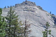 Rock Climbing Photo: Big Sleep Dome as seen on the drive in on Browns M...