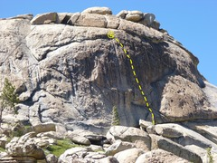 Rock Climbing Photo: Digeridude follows the line of 7 bolts up this fan...