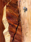Rock Climbing Photo: Composite watercolor of Mantel Illness with the up...