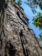 Rock Climbing Photo: Our rope leader Chris climbing this in his bulky h...