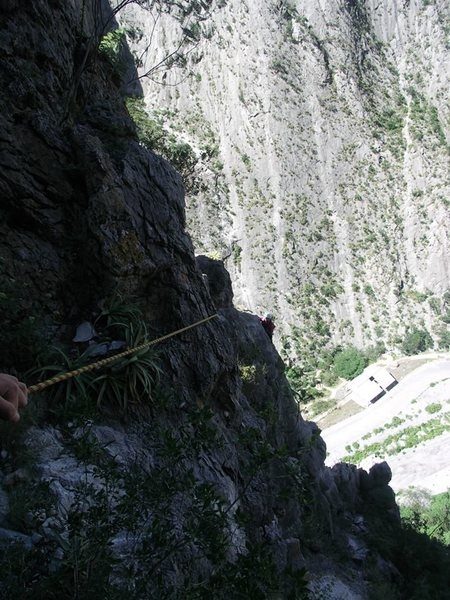 View of the beginning of the traverse (from the end of it)