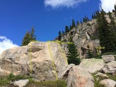 Rock Climbing Photo: Block Party Boulder.