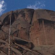 Rock Climbing Photo: The two upper, dihedral pitches. Absolutely stella...
