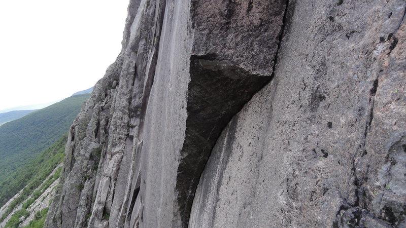 Rock Climbing Photo: p2 crux