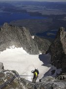 Rock Climbing Photo: Mt. Moran Falling Ice Glacier