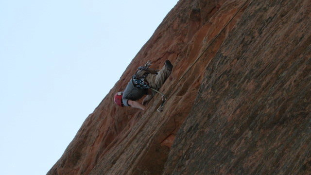 Climbing at Red Rocks in CO Springs last summer.