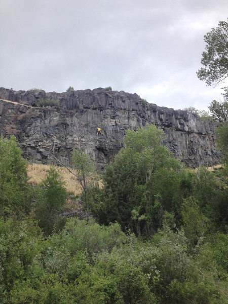 Rock Climbing Photo: Isaac Smith headless on Hungry Eyes