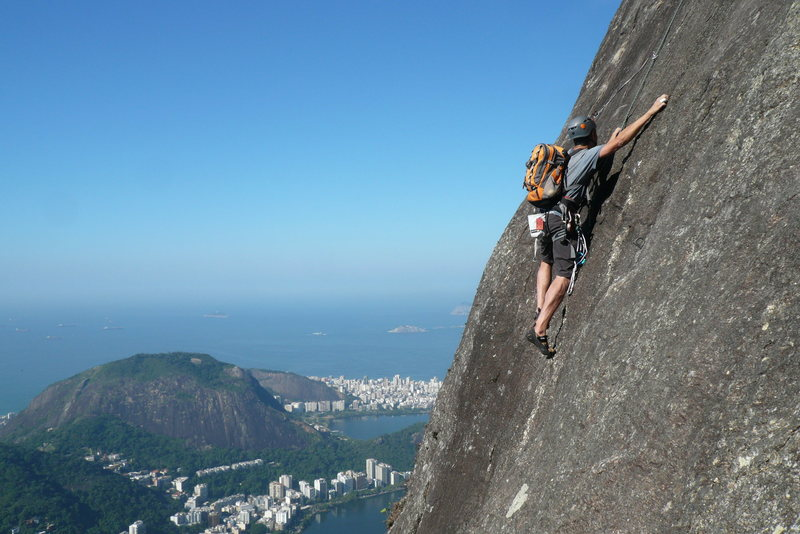 Rock Climbing Photo: Group in front of me. First time climber in Brazil...