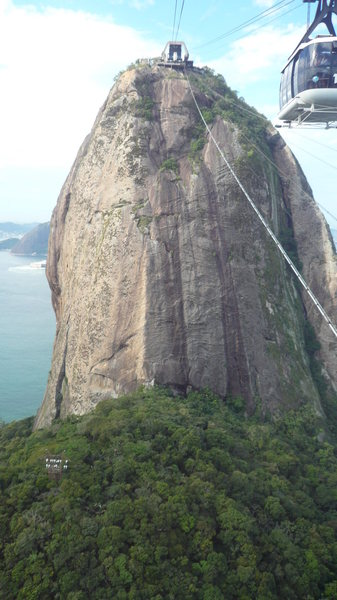 The mountain on the descent via the cable car.
