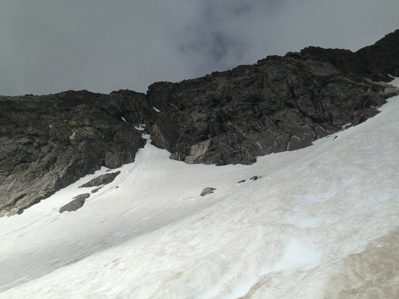 A look at Blitzen Couloir.