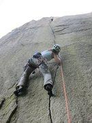 Rock Climbing Photo: Pure joy on splitter fingers