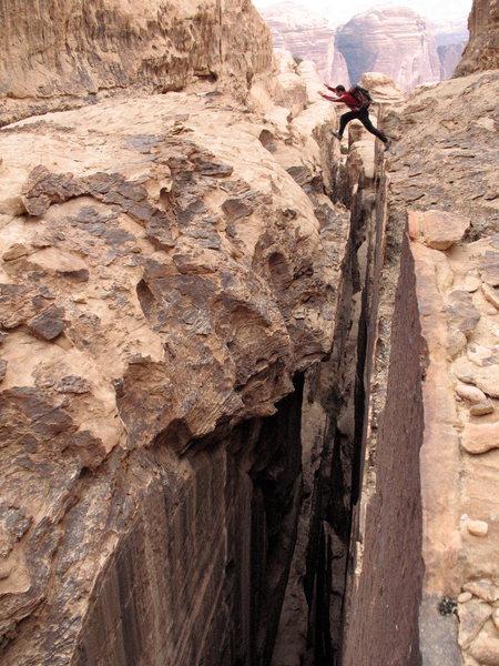 Ridjim Assaf siq jump - Wadi Rum, Jordan