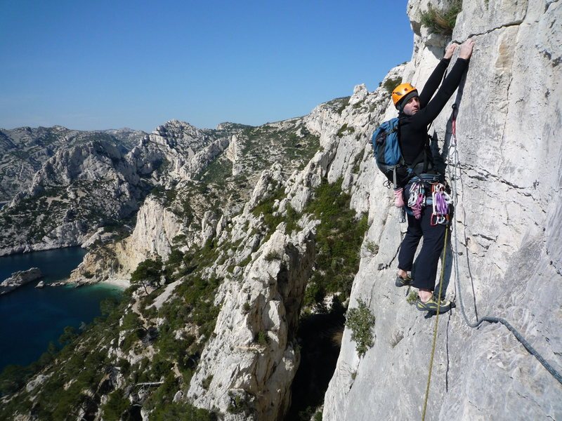 Rock Climbing Photo: Socle de la Candella - Calanques, France