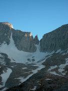 Rock Climbing Photo: The Petit Griffon. The North Couloir of Mount Abbo...