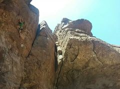 Rock Climbing Photo: Working my way up Neptune