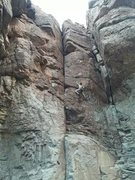 Rock Climbing Photo: Cool route, pretty consistent climbing all the way...