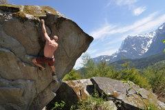 Rock Climbing Photo: Bobs Balls (v2) in Goldbar, Wa