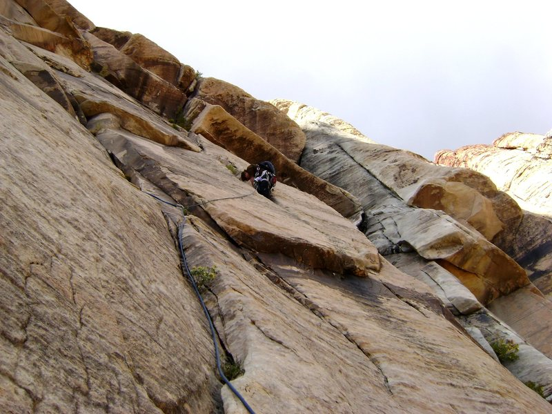 Rock Climbing Photo: Hot Flash, the 3 overhangs