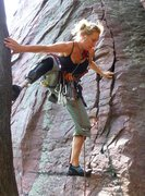 Rock Climbing Photo: A great training route for trad climbing.