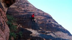 Rock Climbing Photo: Leading the first pitch at Big Bad Wolf!