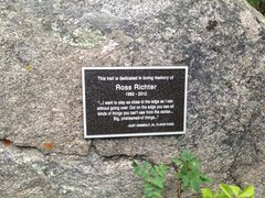 Rock Climbing Photo: Memorial to my friend Ross Richter just past the f...