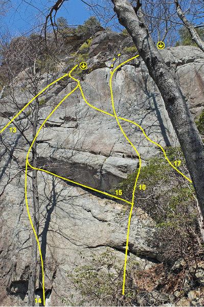 Rock Climbing Photo: Undercling Slab