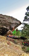 Rock Climbing Photo: Start beta of Tryst.