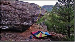Rock Climbing Photo: Tryst problem beta.
