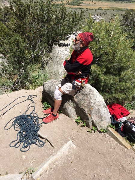 Seventy-seven year old George Urioste, June, 2014.  Castle Rocks State Park.