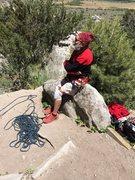 Rock Climbing Photo: Seventy-seven year old George Urioste, June, 2014....