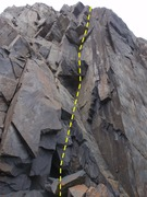 Rock Climbing Photo: Steam and pull your way past the broken roofs up t...