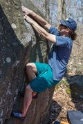 Rock Climbing Photo: Jack sending an unknown problem