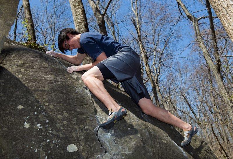 Rock Climbing Photo: Pat's action face