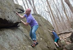 Rock Climbing Photo: Pinch & crimp those rocks