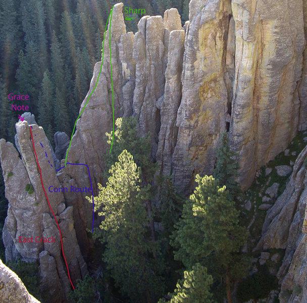 Rock Climbing Photo: Grace Note Beta